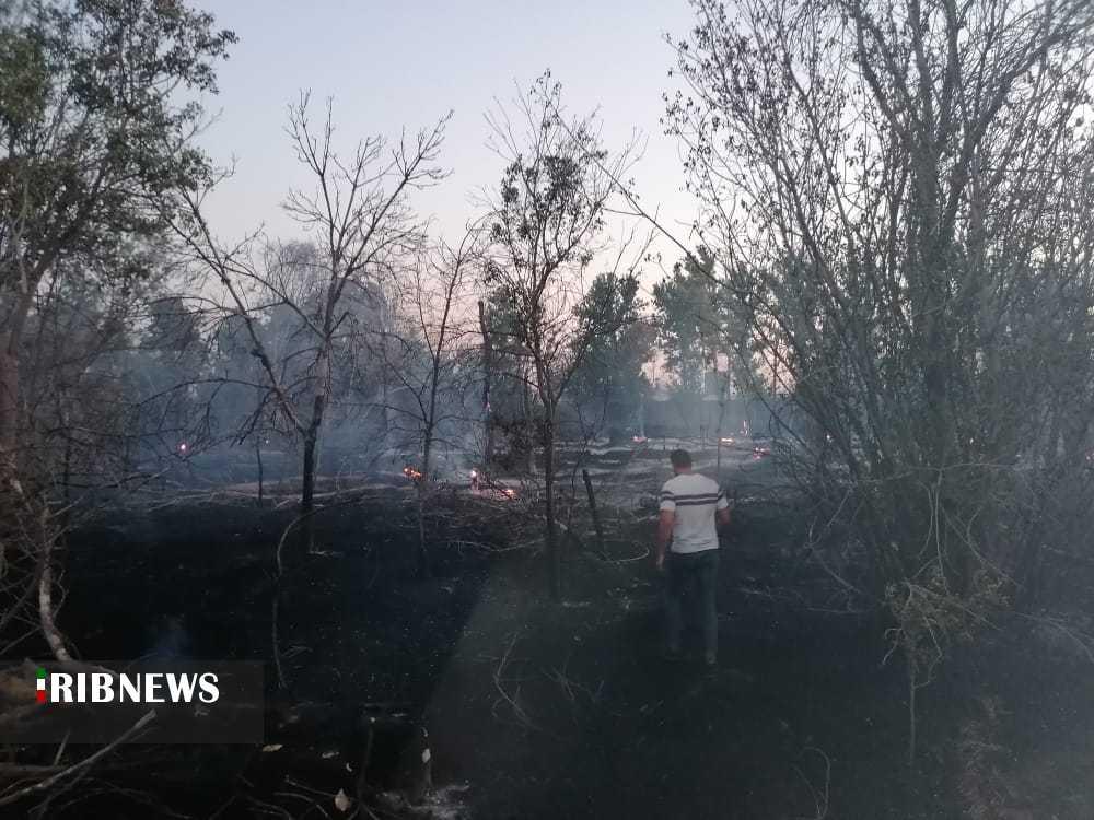 آتش سوزی در کارخانه قدیمی آزمایش مرودشت