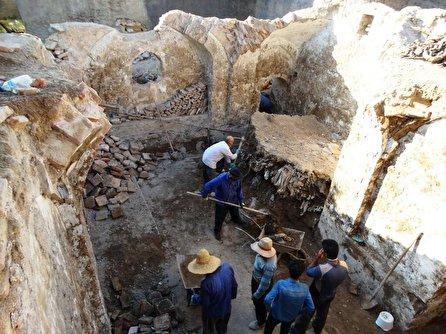 کشف حمام تاریخی در سنندج