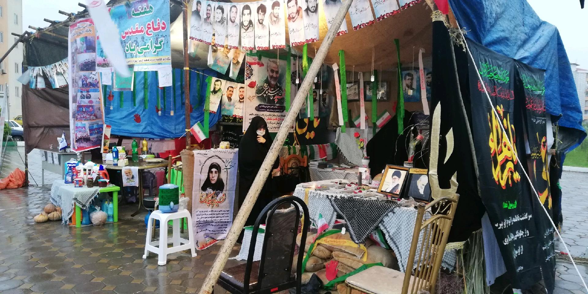 برپایی نمایشگاه فرهنگی در مسکن مهر رشت