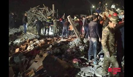 حمله موشکی ارمنستان به شهر گنجه در جمهوری آذربایجان