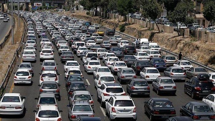 ترافیک سنگین در آزادراه قزوین _کرج
