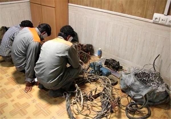 دستگیری باند ۳ نفره سارقان سیم برق در گلپایگان