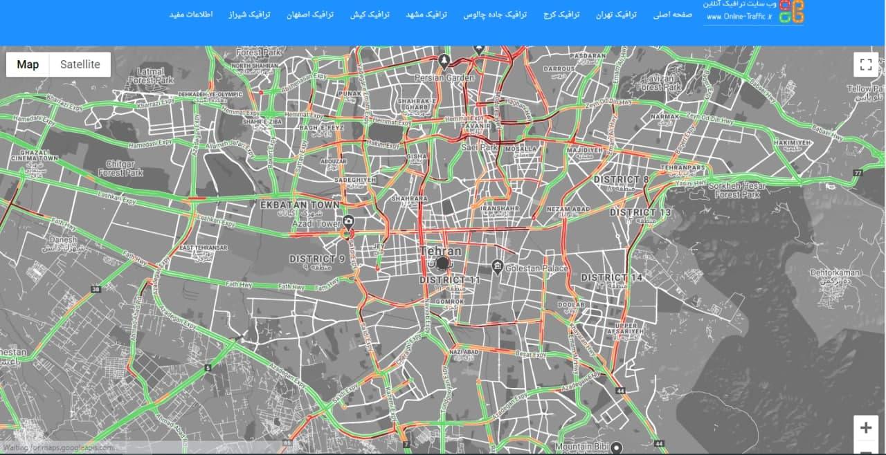 ترافیک سنگین در تهران علی رغم ادامه شیوع کرونا
