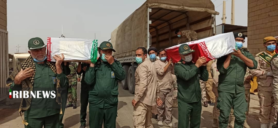 پیکر پاک ۶۳ شهید گلگون کفن در آغوش میهن
