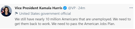 کامالا هریس: 10 میلیون آمریکایی بیکار داریم
