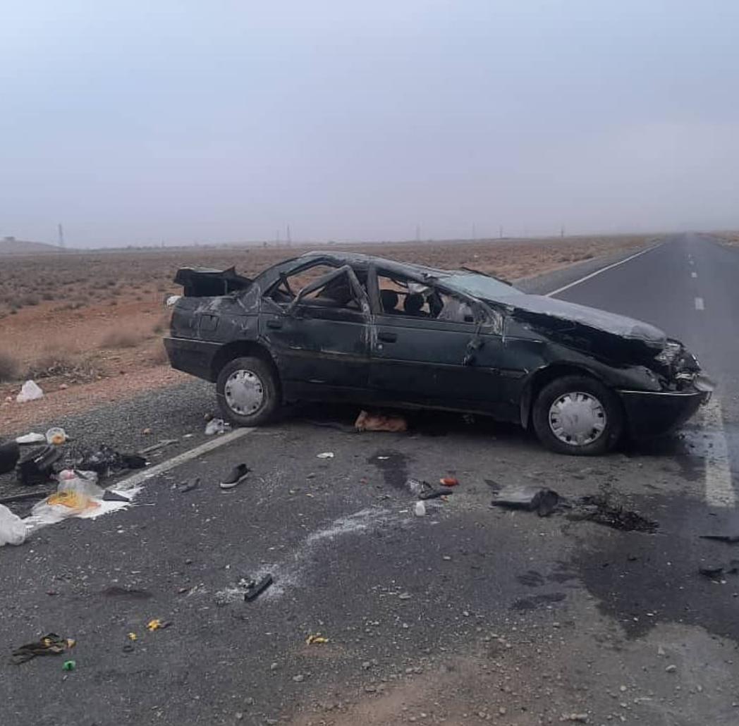 یک کشته و سه مصدوم در اثر واژگونی خودرو پژو