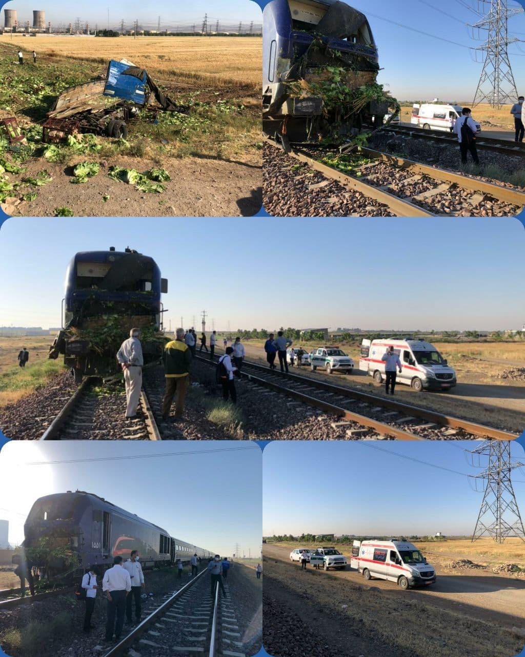 یک فوتی در تصادف قطار و کامیون