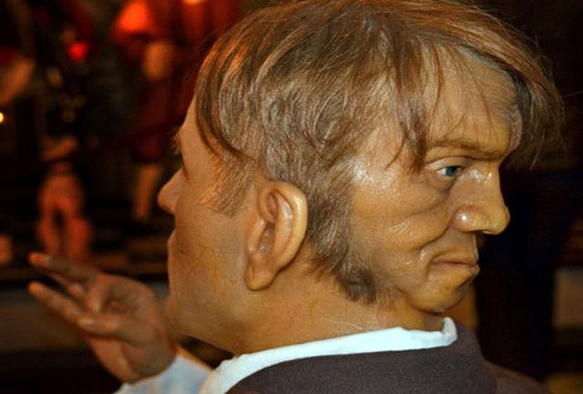مرد عجیب الخلقه یک صورت شیطانی در پشت سر دارد!