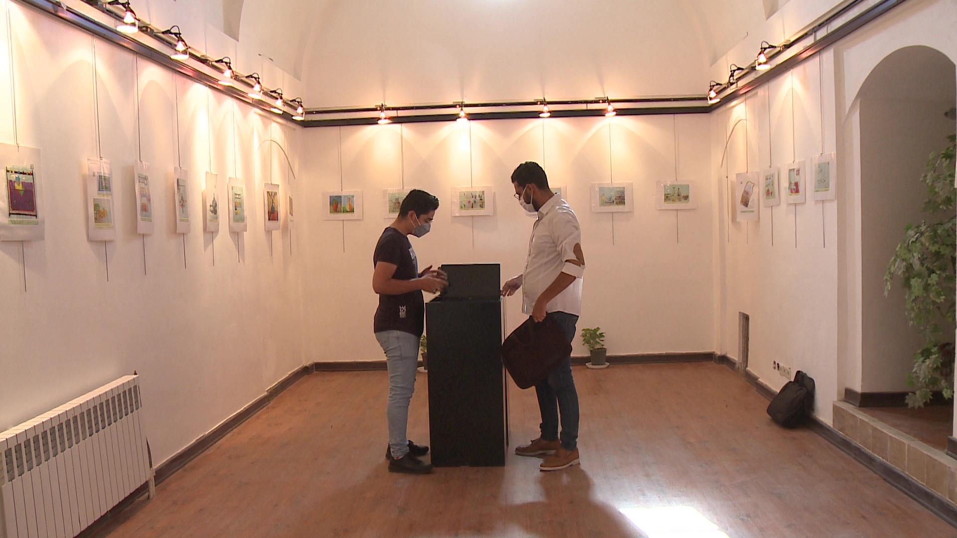 افتتاح نمایشگاه نقاشی در باغ و عمارت اکبریه