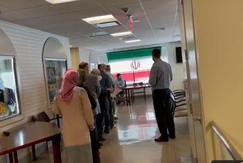 صف رای دهندگان در دفتر حافظ منافع ایران در واشنگتن