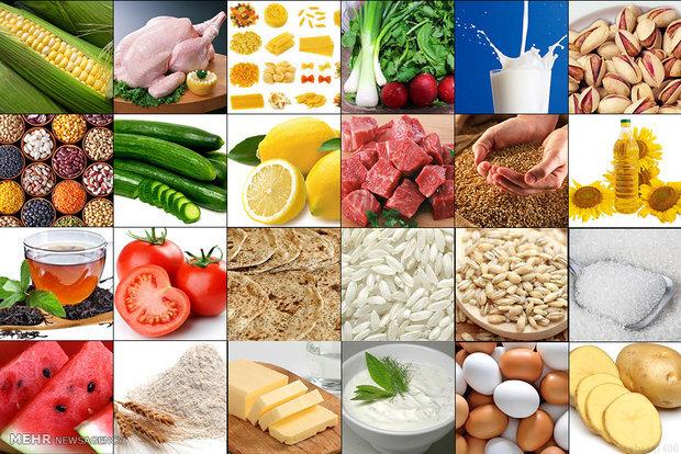 متوسط قیمت کالاهای خوراکی در خرداد۱۴۰۰