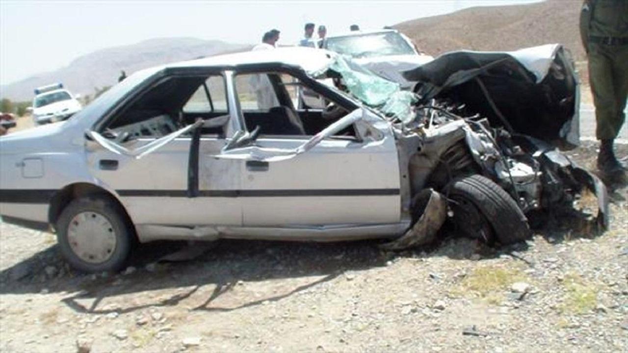 تصادف خودروها و چراغ زندگی که خاموش شد