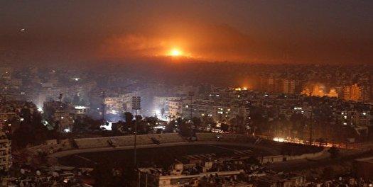 مقابله پدافند هوایی سوریه با تجاوز رژیم صهیونیستی به حمص
