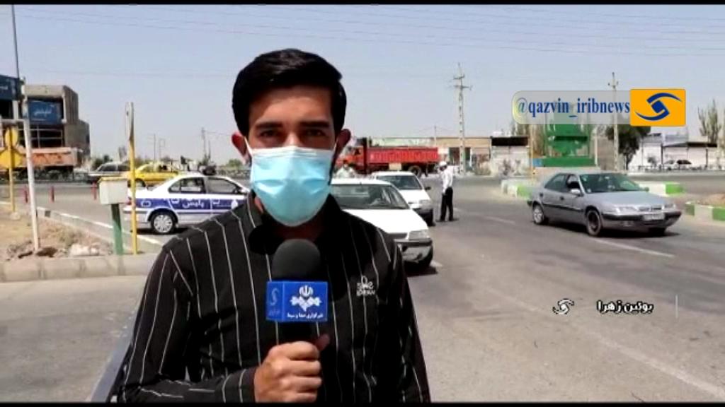 ممنوعیت تردد در تاکستان و قزوین+ فیلم