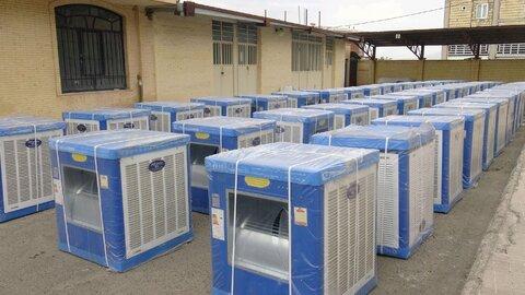 توزیع ۶۰۰ دستگاه کولرآبی بین مددجویان کمیته امداد استان یزد