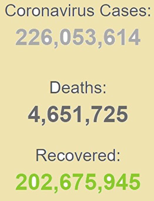 شناسایی بیش از ۲۲۶ میلیون بیمار کرونایی در جهان