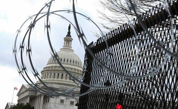 کنگره آمریکا بازهم در محاصره حصارهای امنیتی