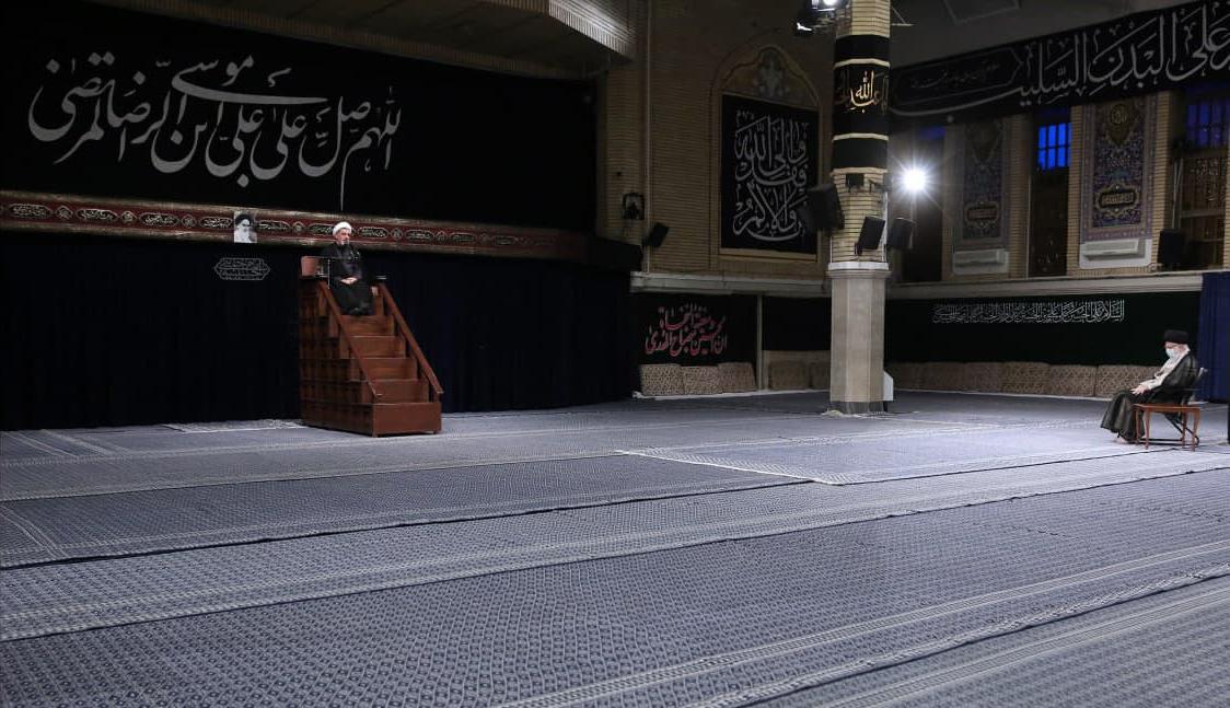 مراسم عزاداری شهادت امام رضا (ع) در حضور رهبر انقلاب