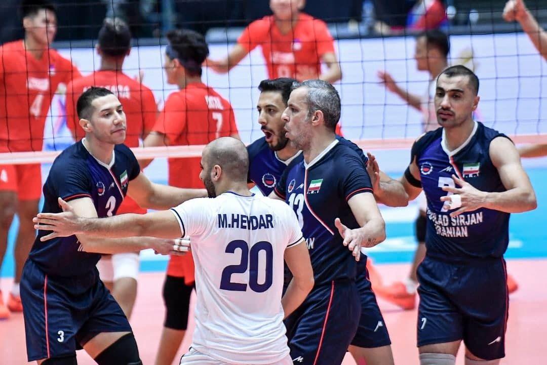 پیروزی تیم والیبال فولاد سیرجان مقابل نماینده فیلیپین
