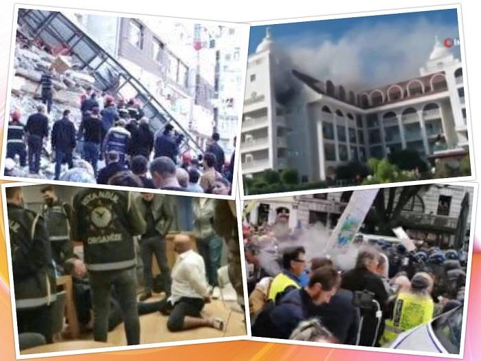 از حمله پلیس فرانسه به معترضان تا چاقوکشی در نیویورک