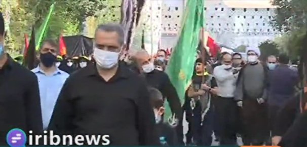 پیاده روی جاماندگان اربعین ۱۴۰۰ در تهران +فیلم
