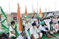 اعتراض گسترده کشاورزان هندی
