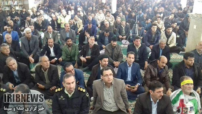 حضور مردم الشتر در مراسم یوم الله 9 دی صبح امروز در مصلای نماز جمعه این شهر