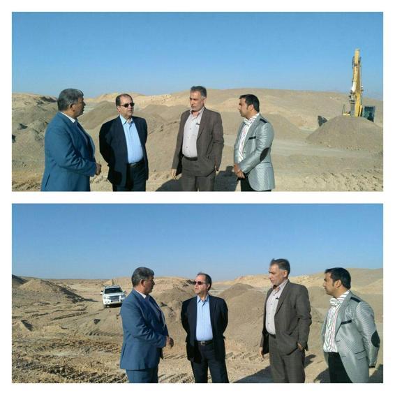 بازدید مدیر کل راه وشهرسازی استان از پروژ ه یزد- بافق