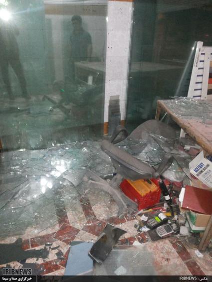خسارات ناشی از زلزله در کوهدشت_مغازه ای در خیابان امام خمینی(ره)
