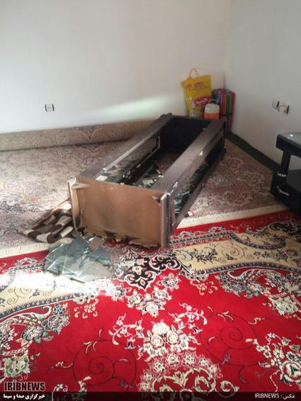 خسارات ناشی زلزله بخش کوهنانی