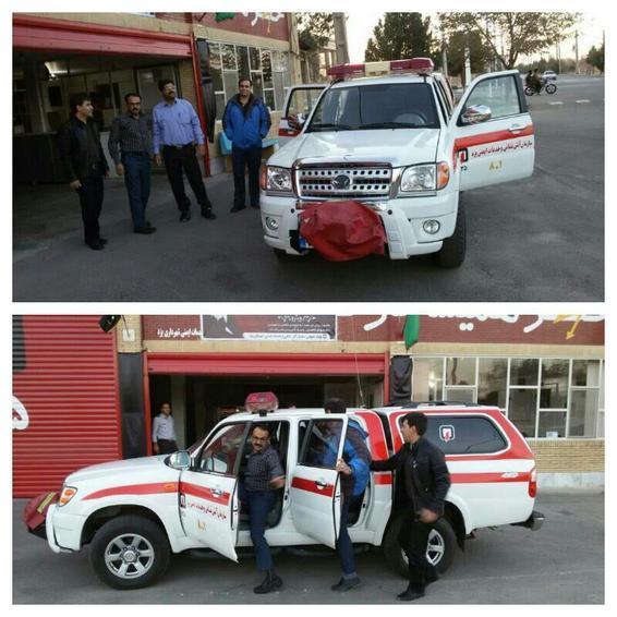 اعزام اکیپ سازمان آتش نشانی یزد به مناطق زلزله زده کرمانشاه