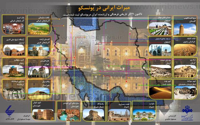 میراث ایرانی در یونسکو+ اینفوگرافی