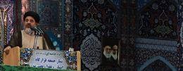 امام جمعه موقت اهواز: بنابر فرمایش مقام معظم رهبری همه مسئولان باید برای حل مشکلات مردم تلاش کنند. عکس