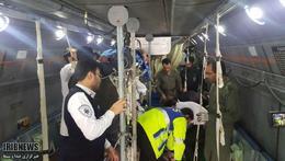 انتقال مصدومان حادثه واژگونی اتوبوس از بیرجند به گچساران