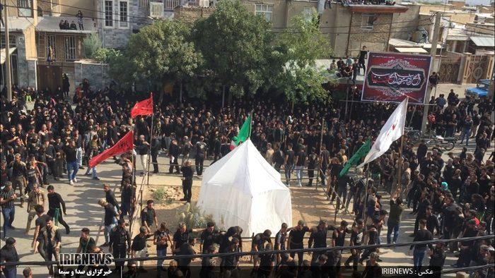 مراسم عزادرای سید و سالار شهیدان ابا عبدالله در بروجرد