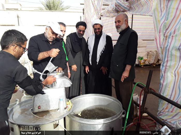 خدمات رسانی به زائران حسینی در موکب مشترک لرستان و زنجان