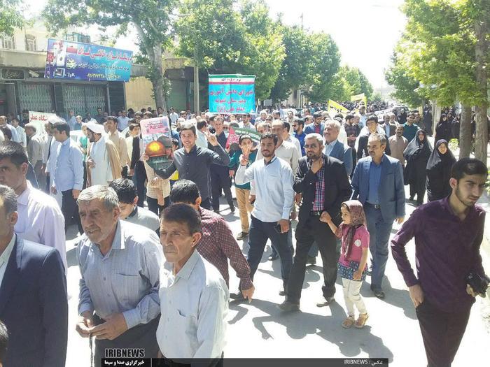 چهلمین مراسم راهپیمایی روز جهانی قدس در لرستان  شهرستان کوهدشت