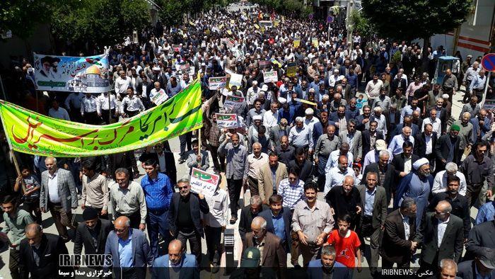 چهلمین مراسم راهپیمایی روز جهانی قدس در لرستان  شهرستان الیگودرز