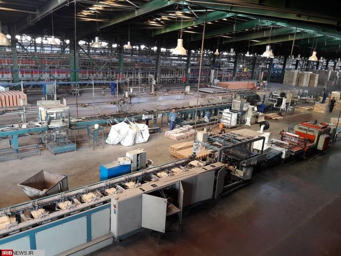 بازدید از کارخانه تولید کاشی و سرامیک الماس کویر رفسنجان