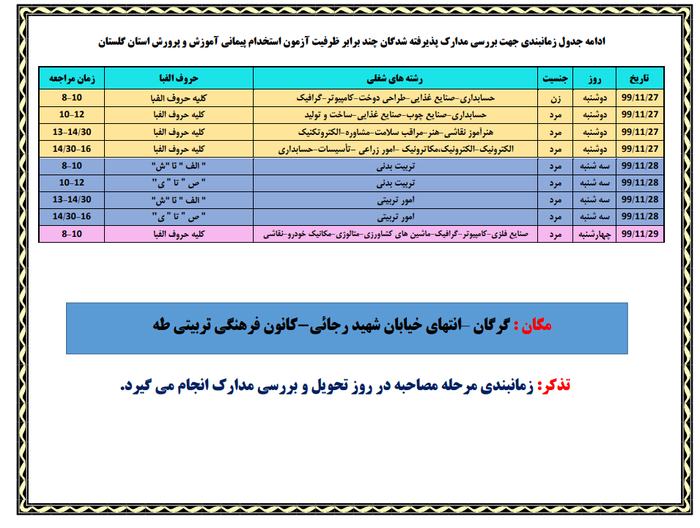 جدول زمانبندی